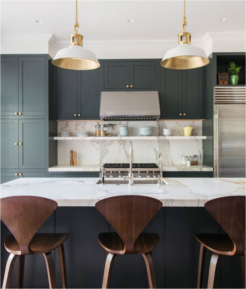 This Look Requires More Distance Than The Traditional 18u201d Spacing Between A  Countertop And Lower Cabinet. More Examples: