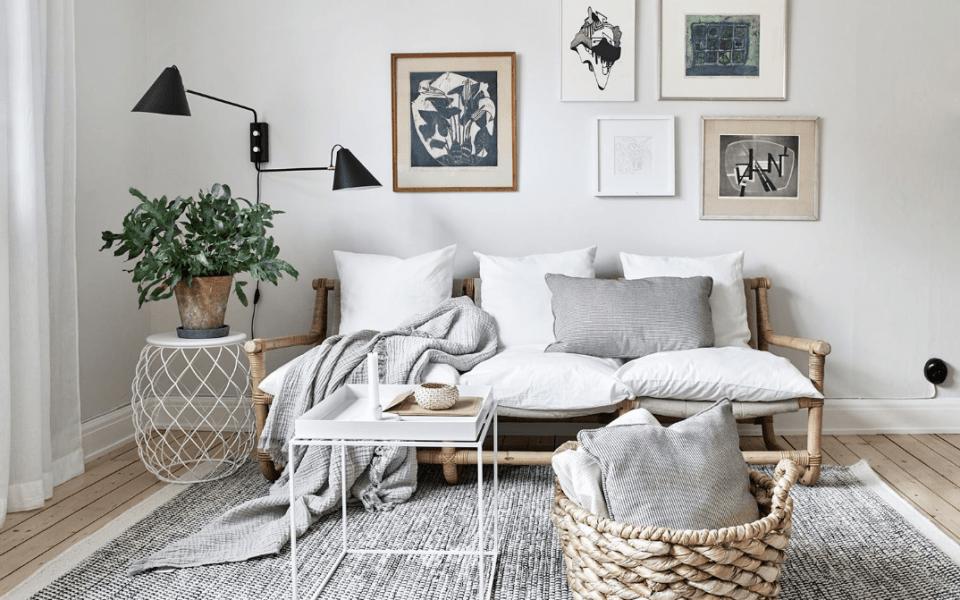 art display over sofa