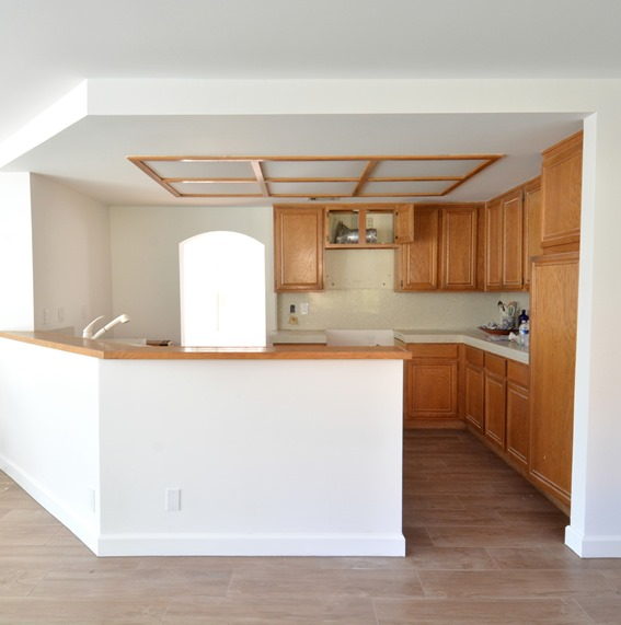 & Remodel Woes: Kitchen Ceiling and Cabinet Soffits | Centsational Style