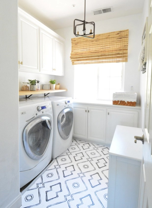 Ideas To Cover Ugly Kitchen Floor Impressive How To Hide An Ugly Floor Laundry Room Refresh 2128 5