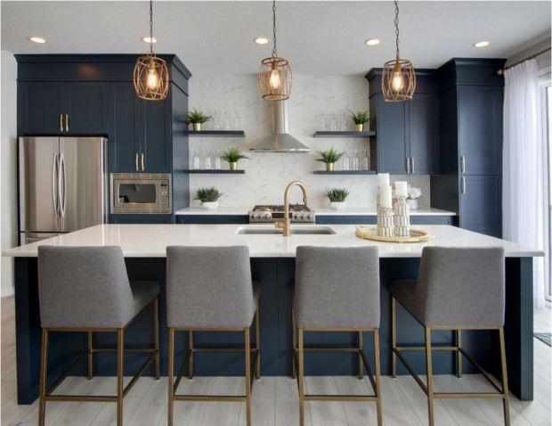 Navy Blue Kitchens That Look Cool And: Forever Classic: Blue Kitchen Cabinets