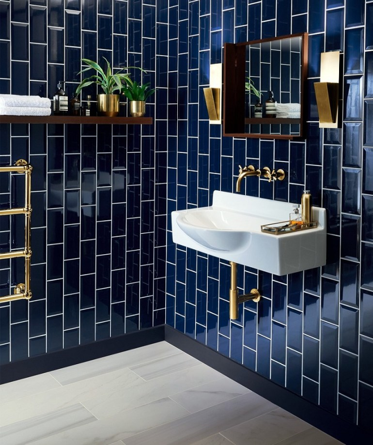 Prime Bold Colorful Bathroom Tile Centsational Style Home Interior And Landscaping Eliaenasavecom