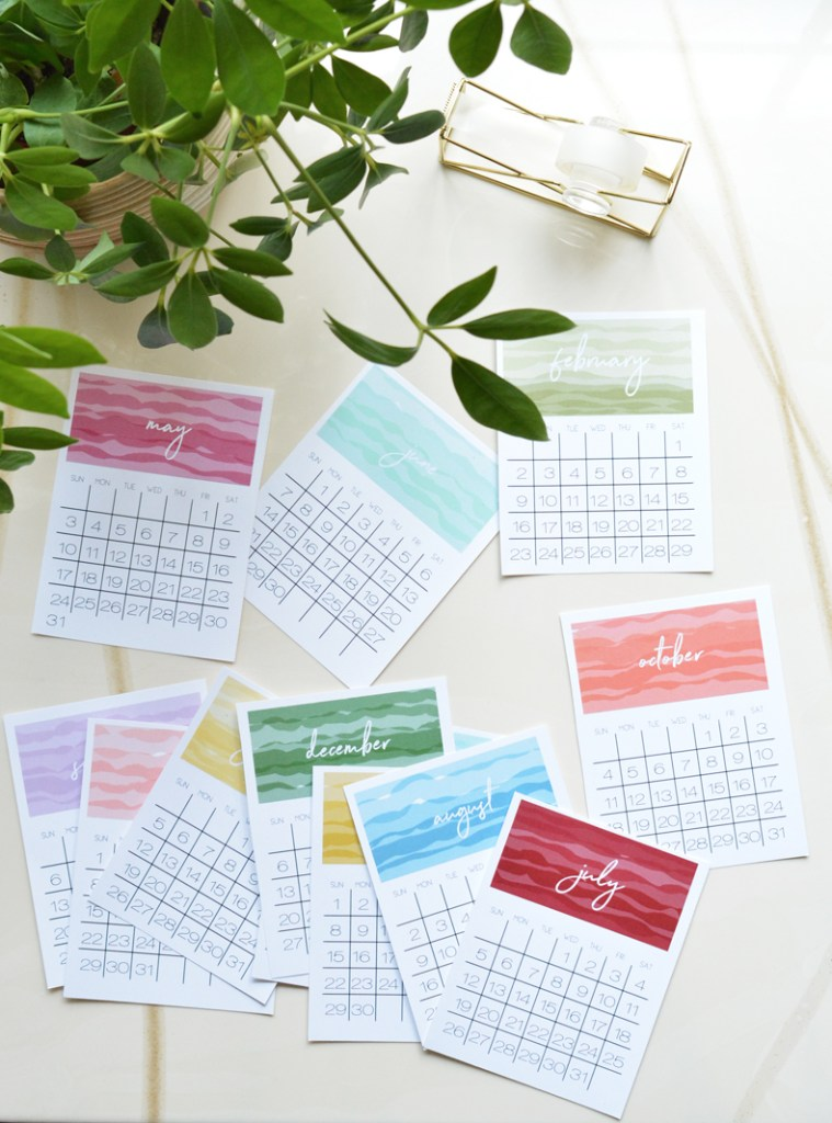 printable 2020 desk calendars