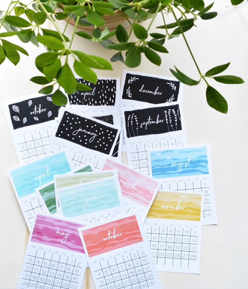 It is a picture of Punchy Printable Desk Calendars