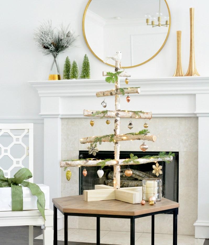 Diy Birch Holiday Tree Centsational Style