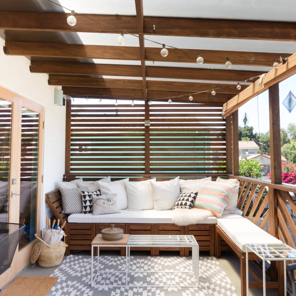 porch patio privacy fence ideas