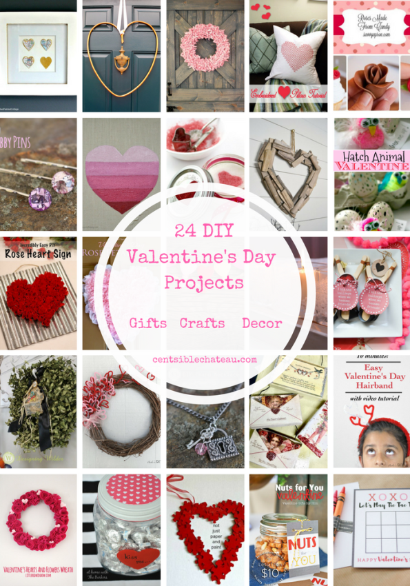 Valentine's Day Free Printable Banner and Cards