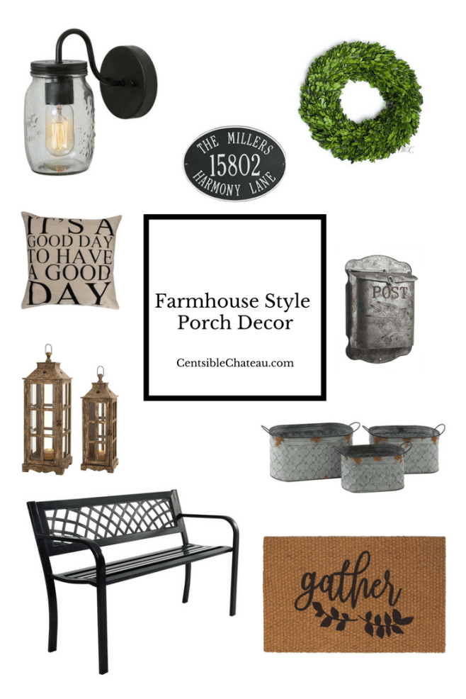 Farmhouse Style Porch Decor CentsibleChateau.com