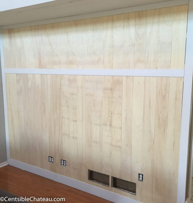One Room Challenge Week Four: Wood Wall Build and Furniture Delay
