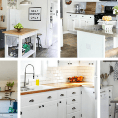 10 Beautiful Farmhouse Style Kitchen Makeovers