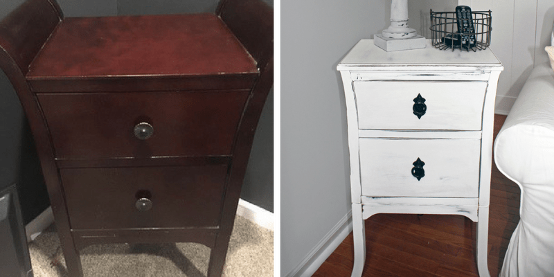 Farmhouse Style End Table Makeover for Under $15 each