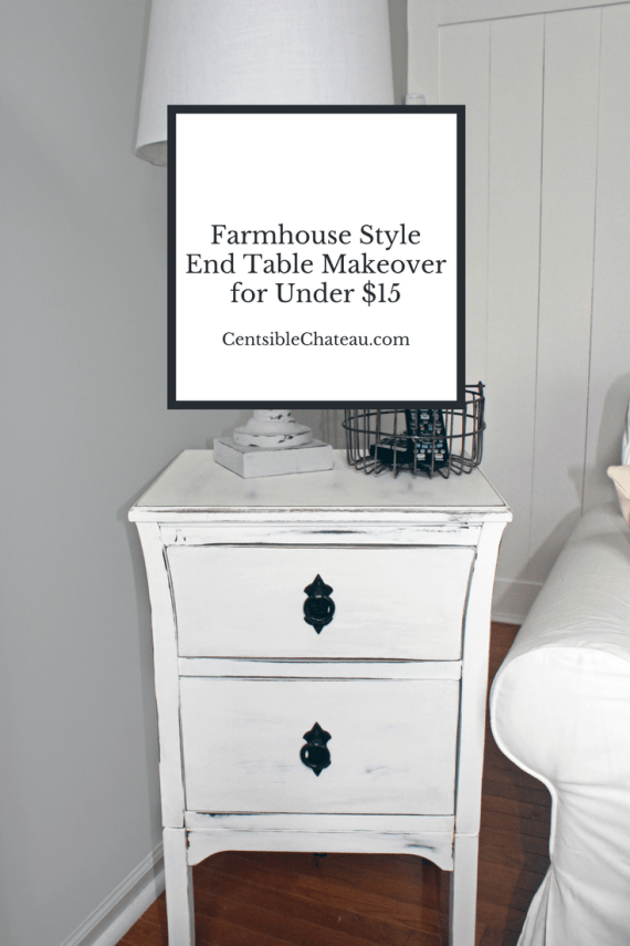 Farmhouse Style End Table Makeover for Under  each