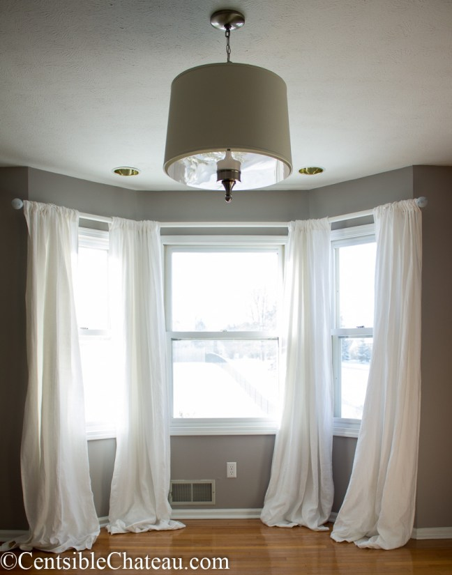How to make a simple, gorgeous bay window curtain rod