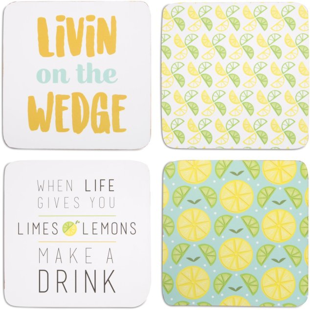 farmhouse lemon decor-coasters