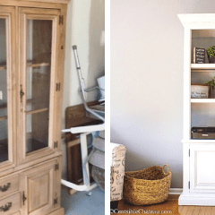 How We Turned a $50  Dining Hutch into an Office Bookcase