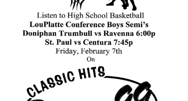 LouPlatte Conference Basketball will be on the radio