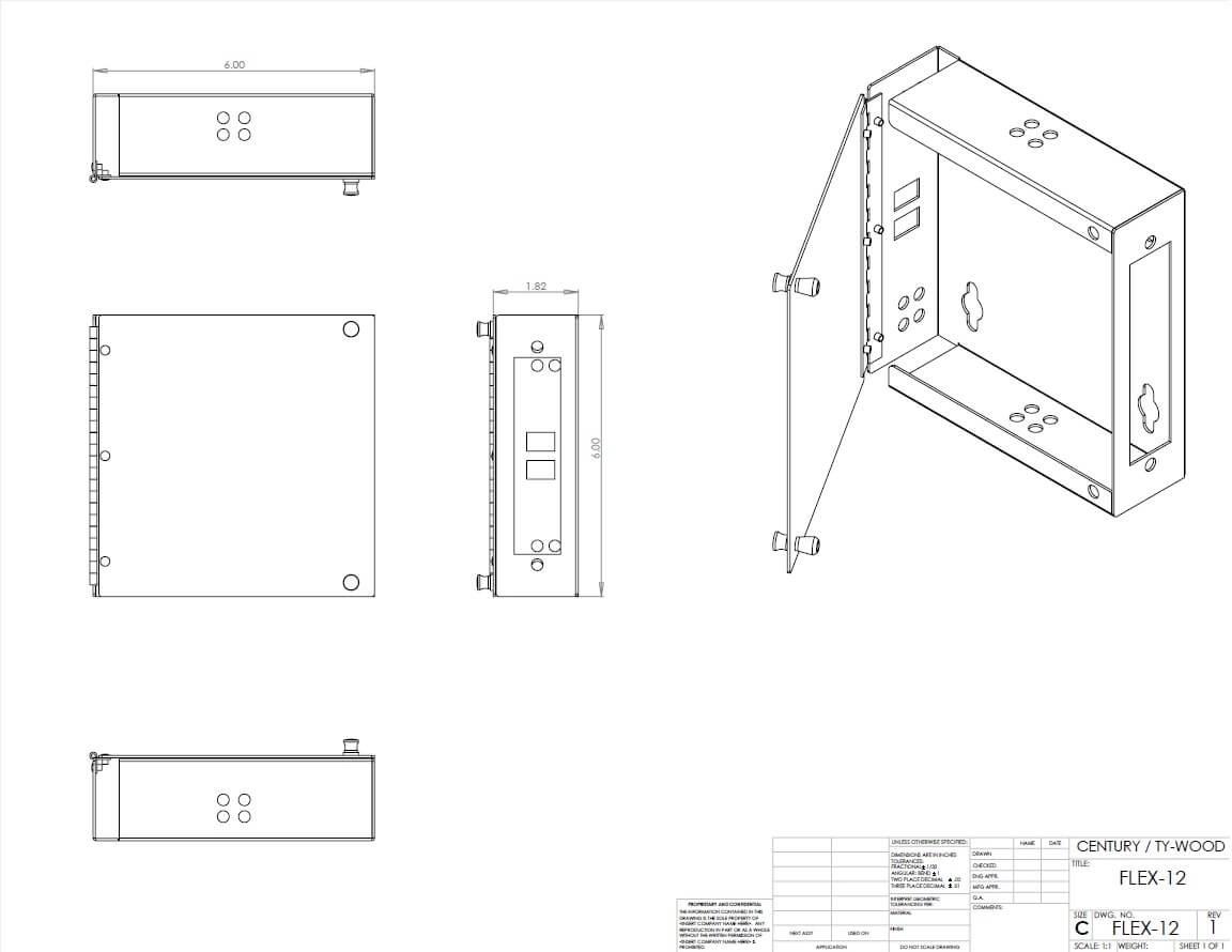 Flx 12 S Tm Splice And Termination Fiber Optic Wall Mount