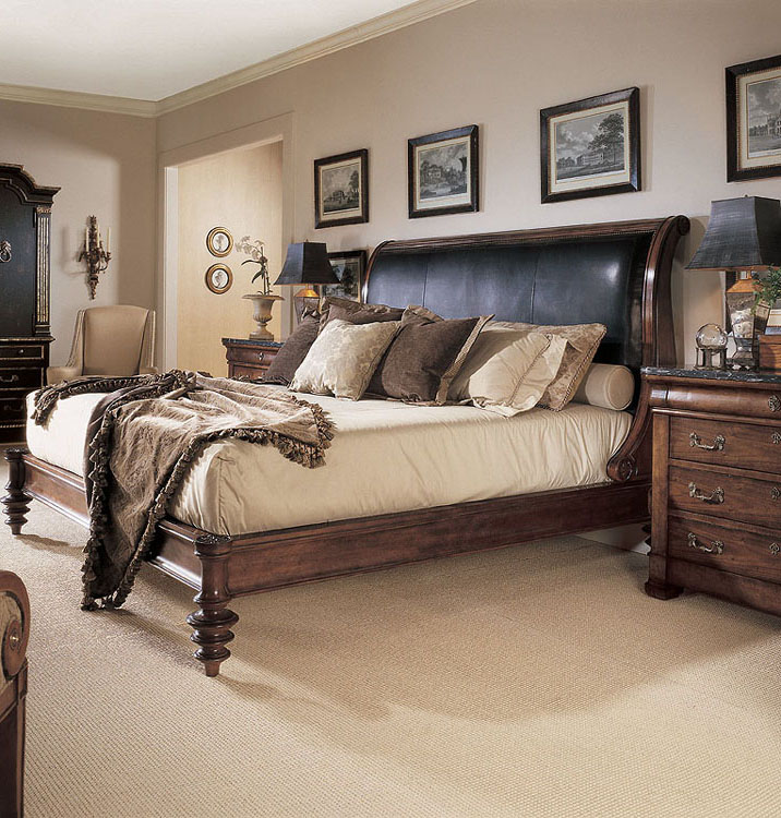 599156  Napoleon Bed With Upholstery Standard King Size 66