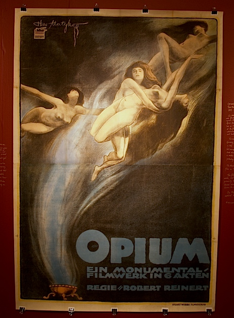 Opium, 1919- this is one of the unbelievably rare silent film posters featured in our upcoming Nitrate and Kinogeists exhibition.