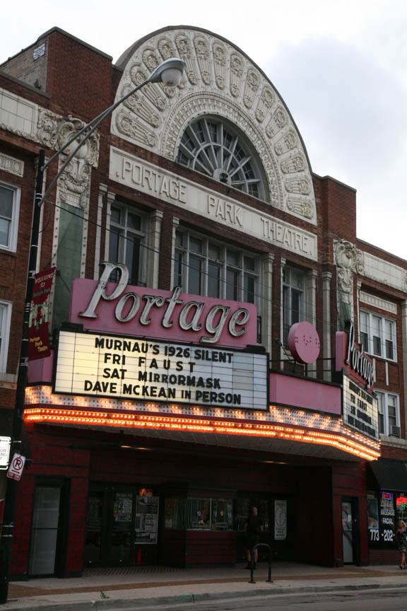 Marquee at the Portage Theater