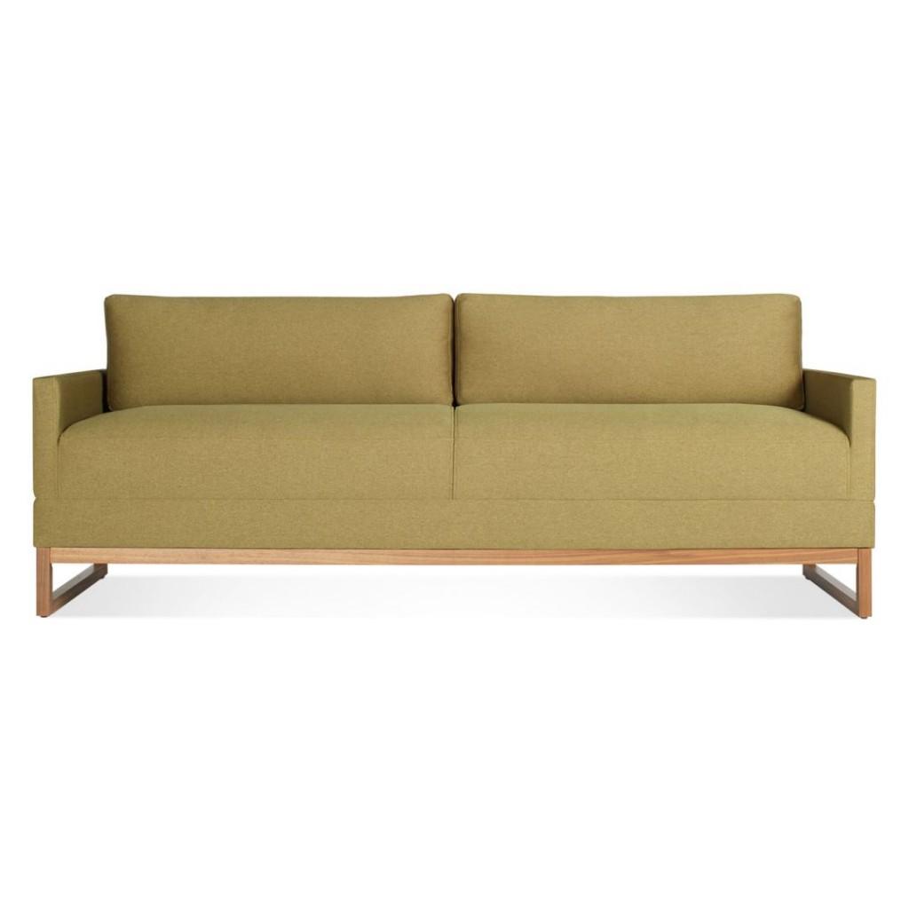 blu dot sofa contemporary with wood trim diplomat sleeper the century house