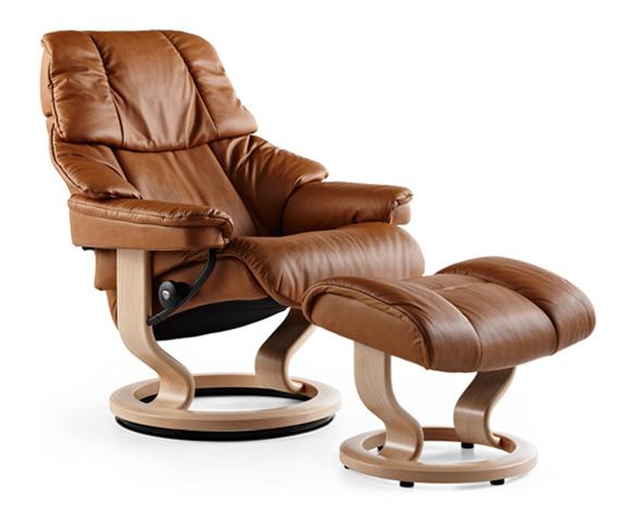 Stressless Reno Chair  Ottoman  Classic Base  The
