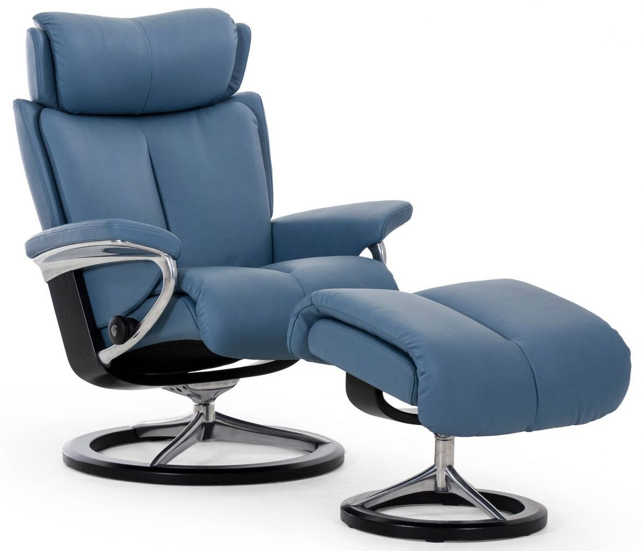 Stressless Magic Chair Amp Ottoman Signature Base The Century House Madison WI