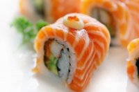 sushi with salmon and lobster