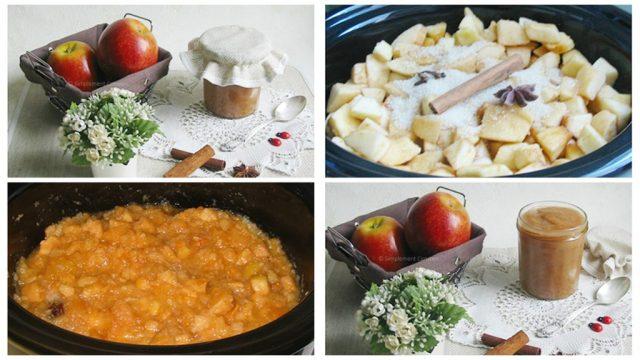 Blog de recettes économiques et fins de mois difficile : Compote de pommes aux épices à la mijoteuse