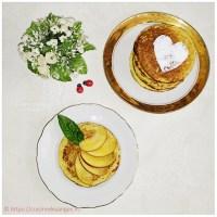 Pancakes aux flocons d'avoine et fruits frais