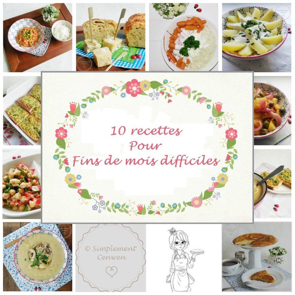 Dix recettes pour fins de mois difficiles et petit budget. Dix recettes gourmandes pour bien manger sans vider son porte-monnaie et son compte en banque ! ♥