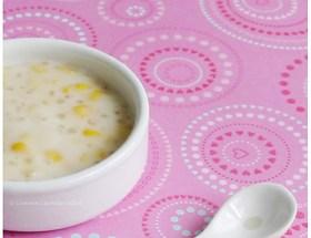 Entremets aux maïs et perles de tapioca (chè bắp bột báng)