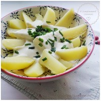 Pommes de terre - Sauce fromage blanc et moutarde