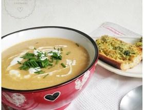 Soupe de haricots blancs ~ cuisson à la mijoteuse, recette végétarienne, gourmande, économique et, fins de mois difficiles. Pour se régaler sans se ruiner ♥
