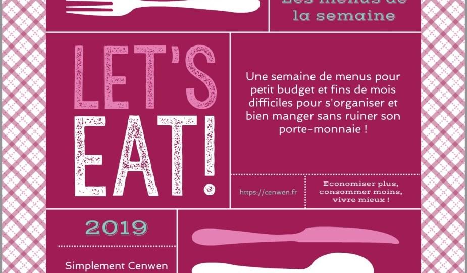 Les menus de la semaine - Planning de menus pour la semaine