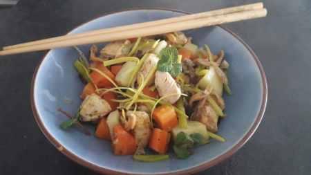 Recettes Fins de Mois Difficiles : Wok de poulet aux légumes