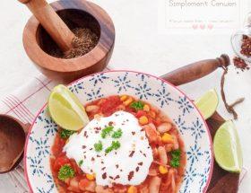 Chili de haricots blancs et maïs