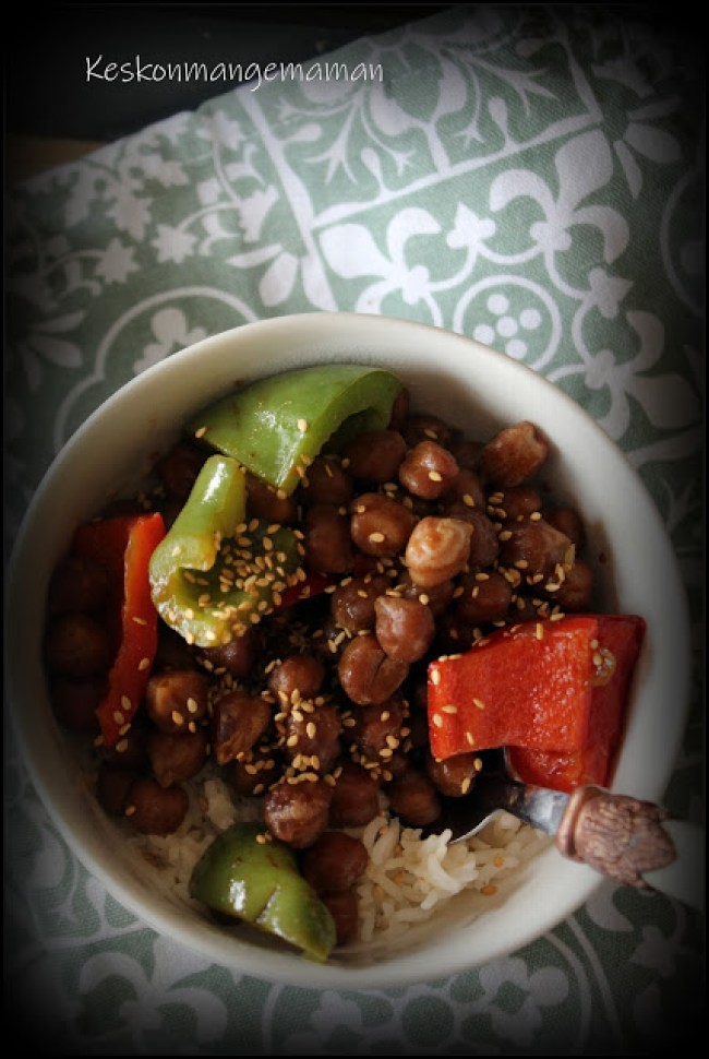 Pois chiches kung pao