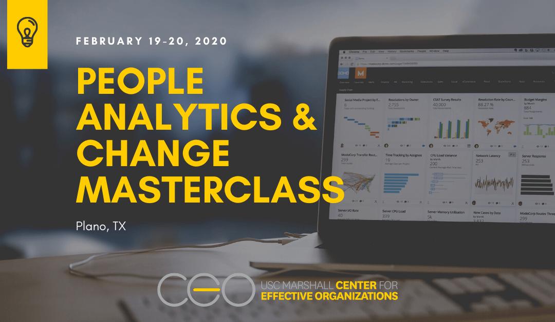 People Analytics and Change Masterclass