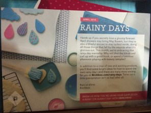 Card A Side. Here you can see this month's theme is Rainy Days
