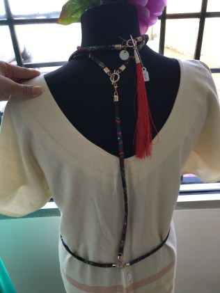AYA Made necklace and harness (back)