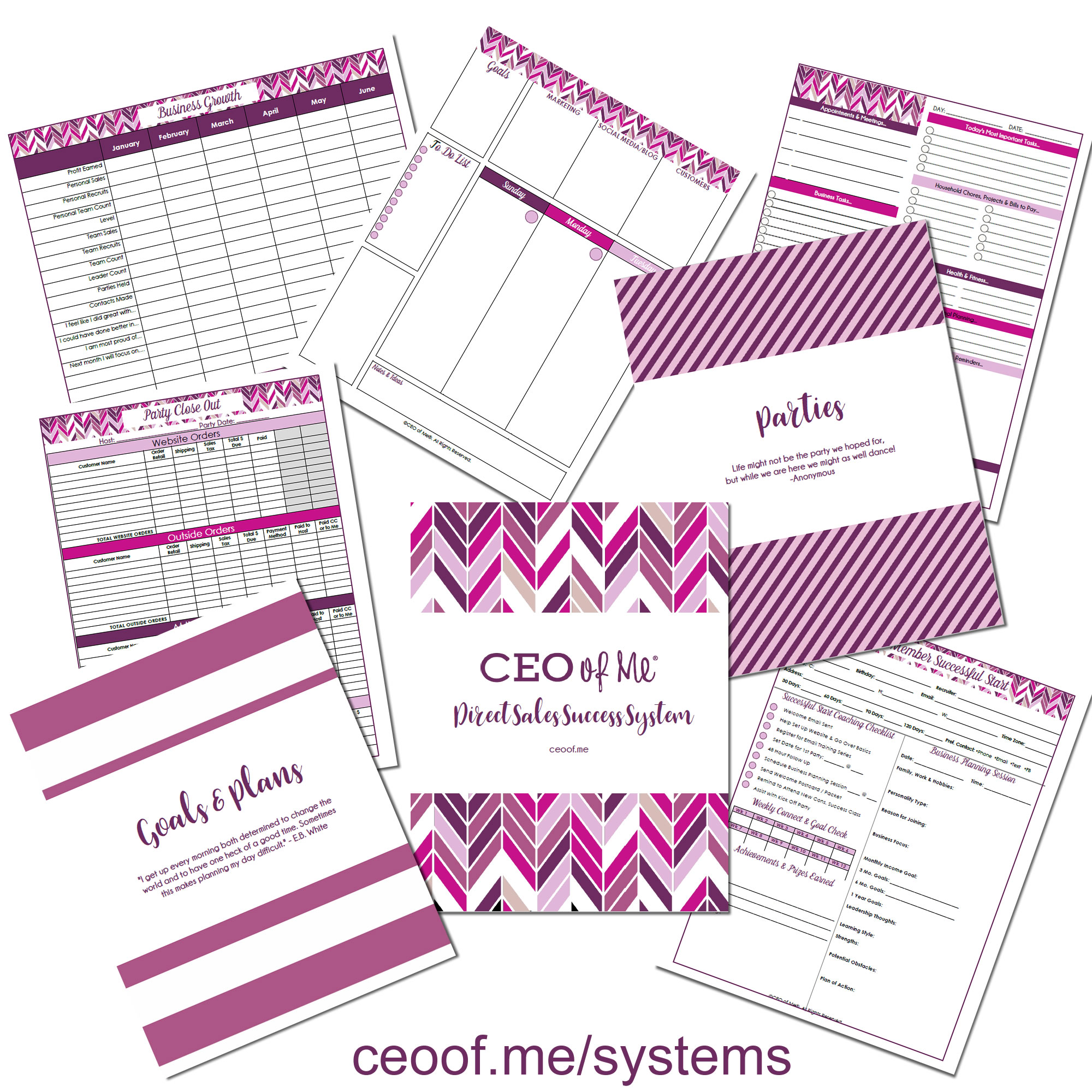 Direct Sales Network Marketing Printable Planner Systems