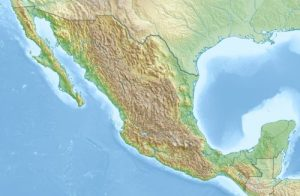 topographical map of mexico