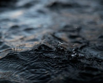 droplets falling on water
