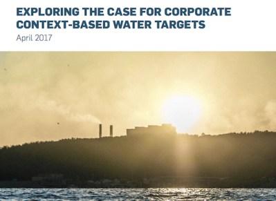 context-based water metrics