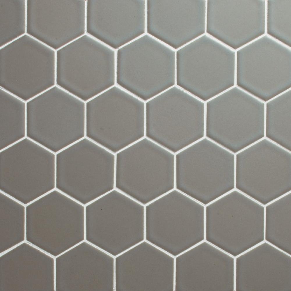 Retro hex 23m matte grey cepac tile retro hex 23m matte grey dailygadgetfo Gallery