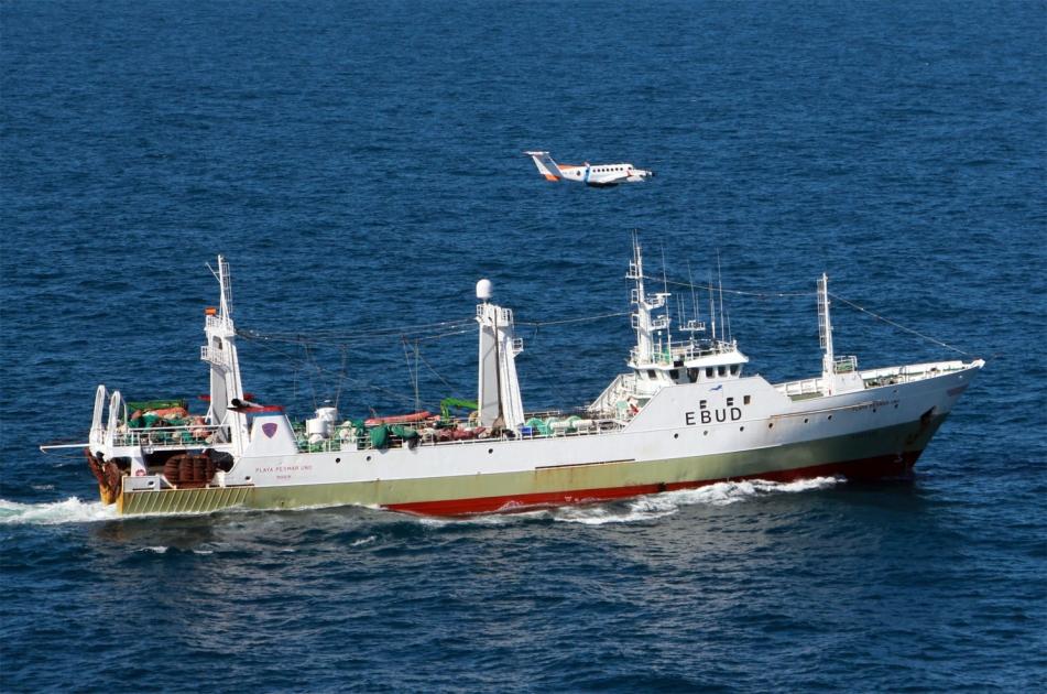 Pesca ilegal: los españoles reconocerán la infracción y pagarán la multa