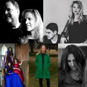 Top (L to R): Backstage Revival, Bringing Home; Bottom (L to R): Gold Frankincense & Myrrh, Rachel Wilhelm, Shelly Moore