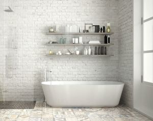 15 Bathrooms With Amazing Tile Flooring intended for [keyword