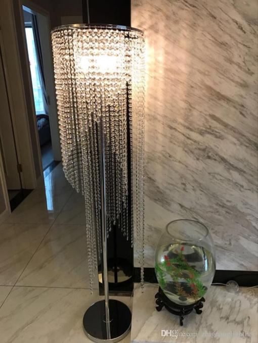 2019 Led Fashion Modern Crystal Floor Lamp Living Room Lights Bedroom Lamps Crystal French Modern Stand Lights Crystal Abajur Cristal From with ucwords]